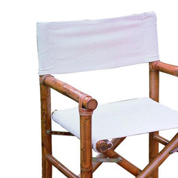 TIEMORE Sedia da Regista Kit di Tela Copertura di Ricambio Coperture di Tela con 2 Accessori per Bastoncini
