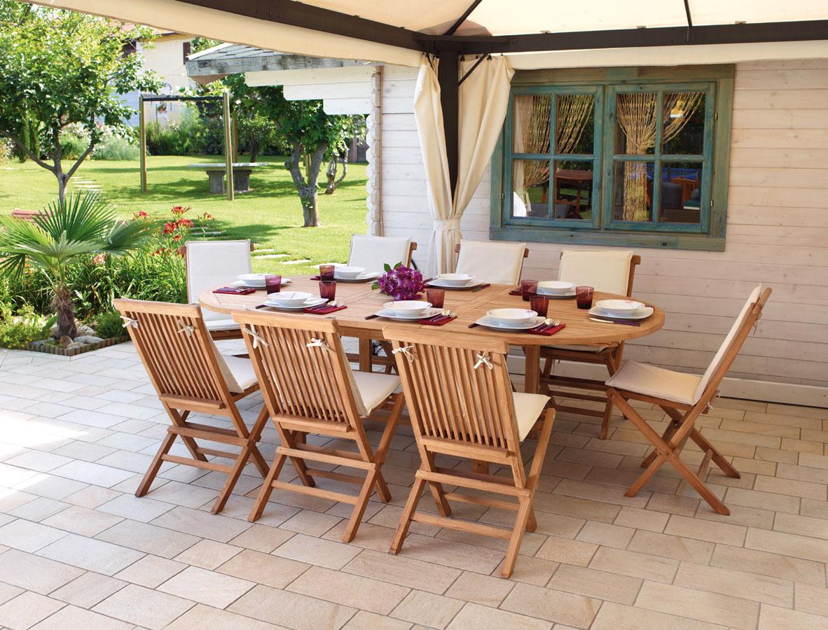 Tavolo ovale allungabile 180 240 x 120 cm alicudi ot 503 for Arredo giardino online shop
