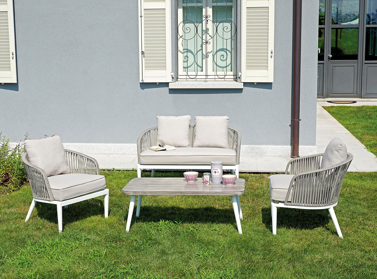 Arredamento Con Corda : Set portovenere mobili in alluminio con corda set 101