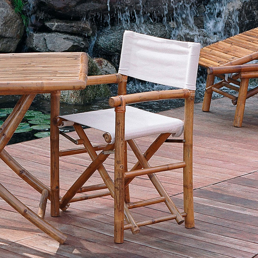 Tavolo quadrato pieghevole 90x90 cm mobili in bambu stb 53 - Mobili in bambu ...