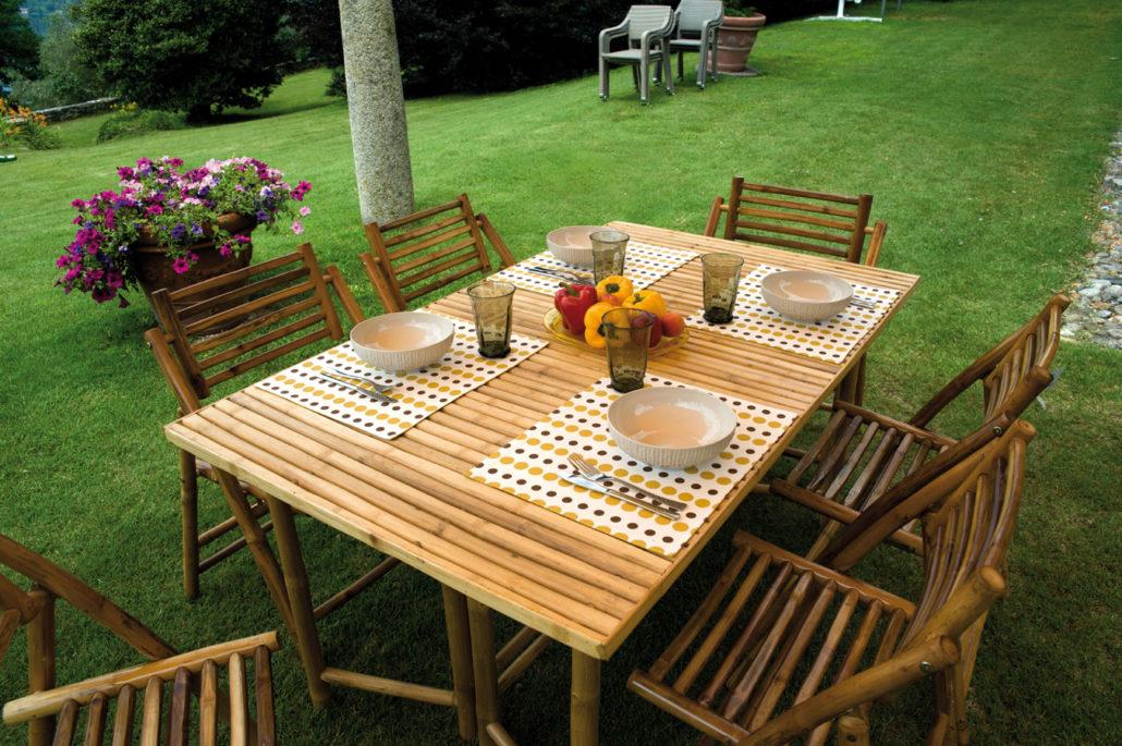 Tavolo rettangolare 150x90 cm mobili in bambu rtb 55 - Mobili in bambu ...