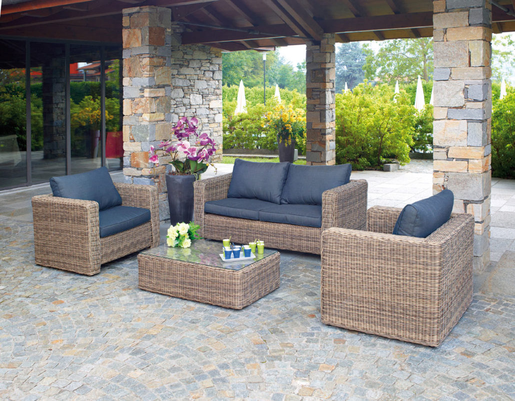 Mobili In Rattan In Offerta.Set Trinidad In Rattan Sintetico Color Grey Kubu Set 62
