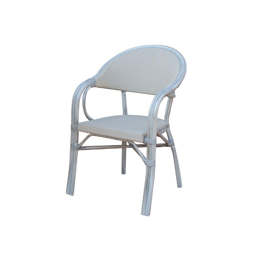 Sedie Alluminio E Legno.Sedia Alluminio Effetto Legno Sbiancato E Textilene Impilabile Cc 44