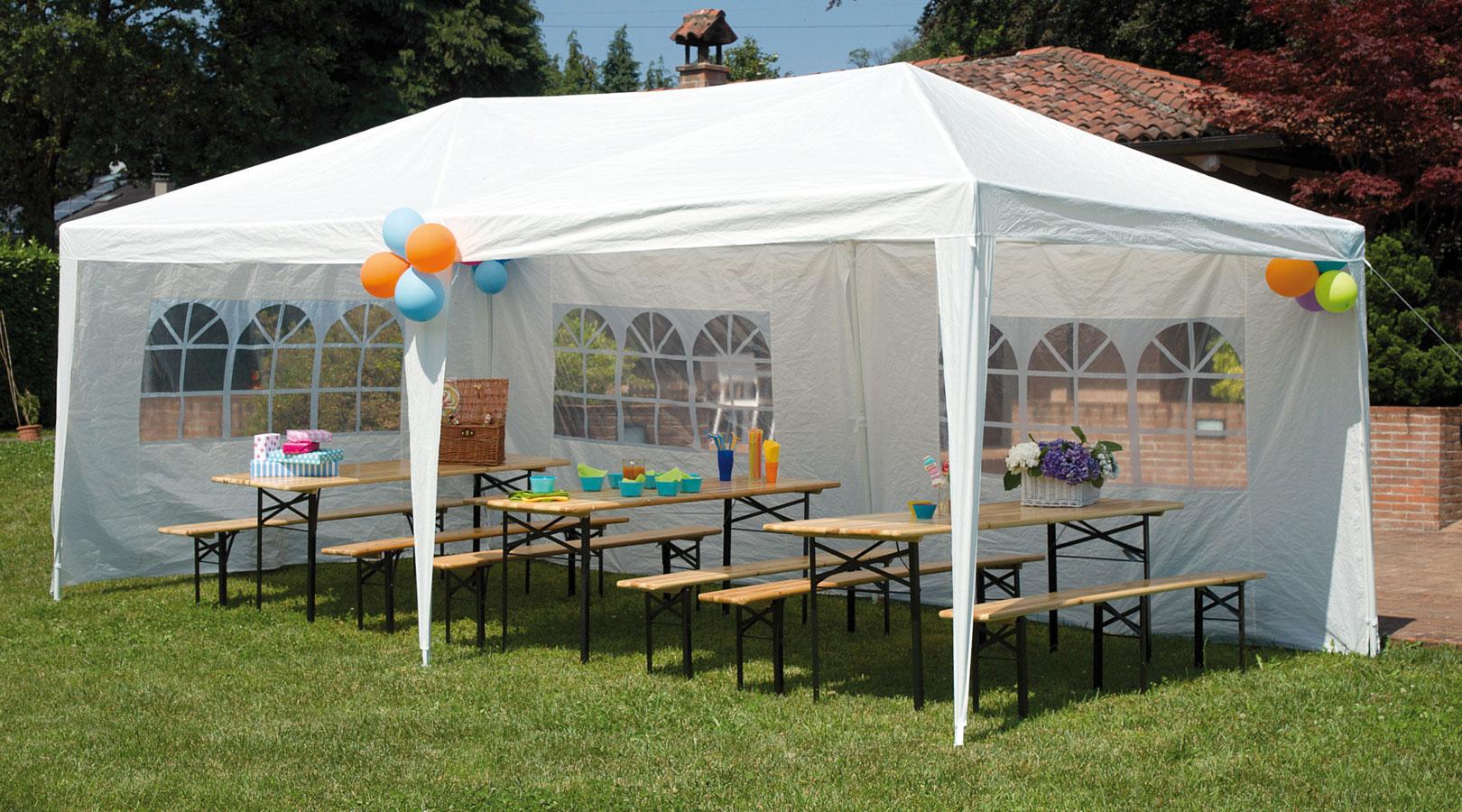 Set birreria tavolo 220x80 e 2 panche 220x25 cm con tre gambe set b4 - Tavoli da birreria 220x80 ...
